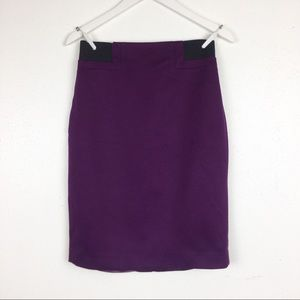 Tahari Size 4 Donnalynn Mulberry Pencil Shirt